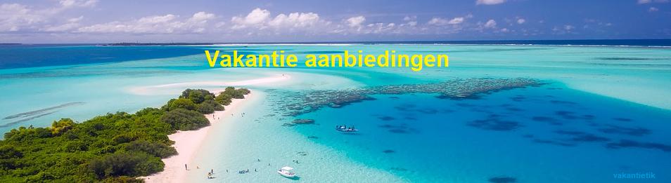 vakantie aanbiedingen banner